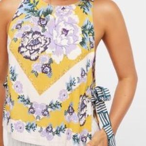 "Free People ""This Sweet Love"" Yellow Floral Tank"